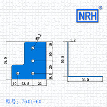 NRH-7601-60 Moulang Edge air bag side industrial Box Corner code right angle corner code