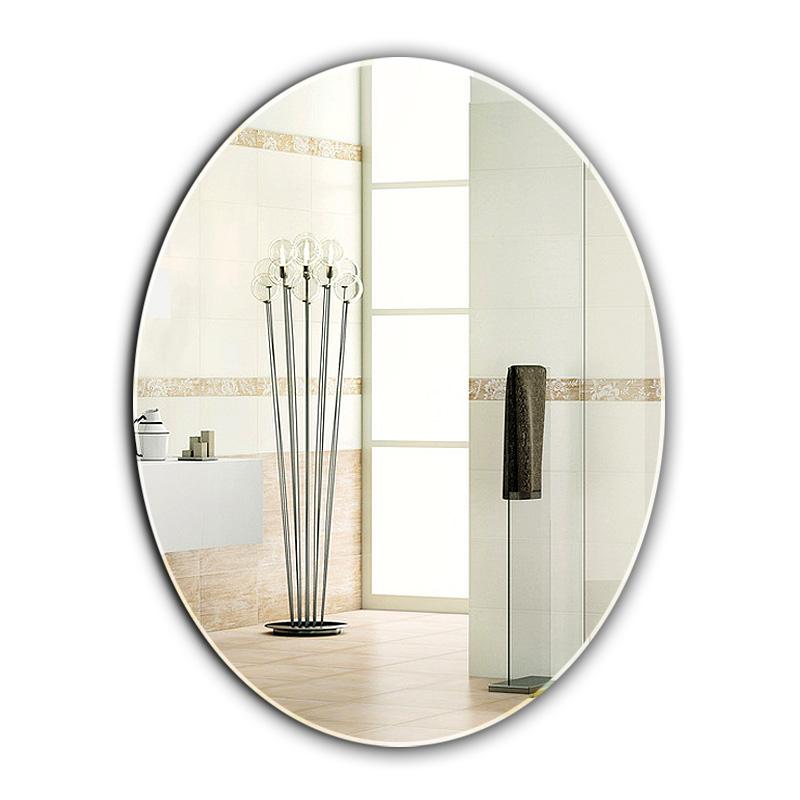 居家浴室鏡簡易鏡橢圓形鏡衛生間鏡壁掛鏡化妝台鏡試衣鏡簡約鏡子