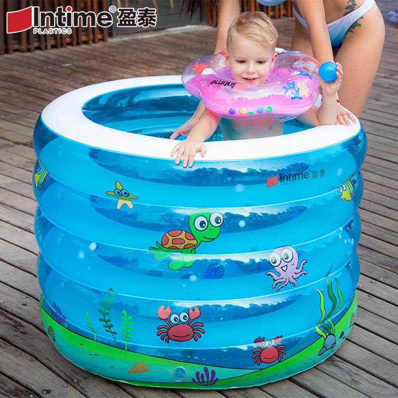 限4000张券盈泰婴儿游泳池家用保温新生儿宝宝游泳桶幼儿童充气洗澡圆形加厚