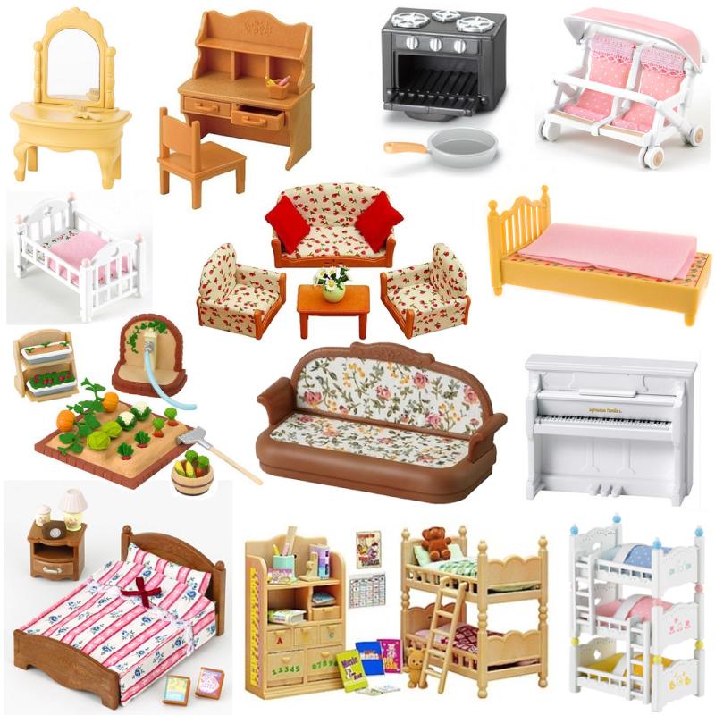 森貝兒家族森林 套裝寶寶三層床沙發桌椅套女孩仿真過家家玩具