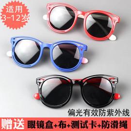 大童偏光防紫外线箭头儿童太阳眼镜个性软硅胶男童女童韩国墨镜图片
