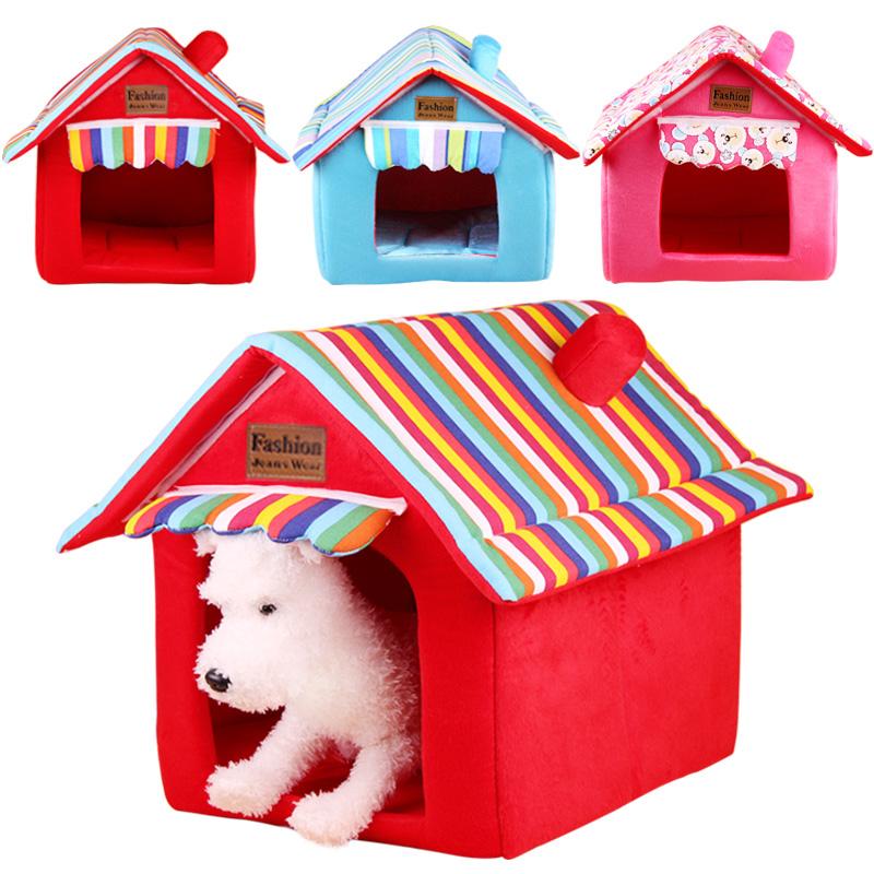 泰迪狗狗窩貓窩寵物折疊房子小狗窩棉可拆洗兔子帳篷貴賓比熊狗屋