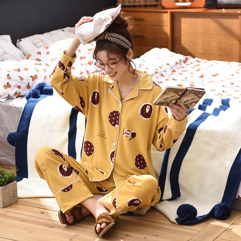 パジャマロリ冬2020年最新流行女性秋冬网红爆款かわいい秋純綿女史ファッション