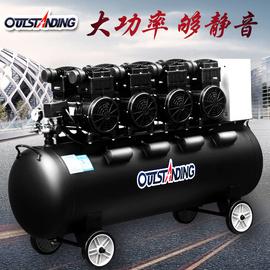 奥突斯空压机工业级大型无油静音汽修泵220v高压打气泵空气压缩机图片