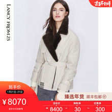 Langzi 2019 winter new black technology far infrared heat storage cuffs mink hair collar sheepskin knick coat female