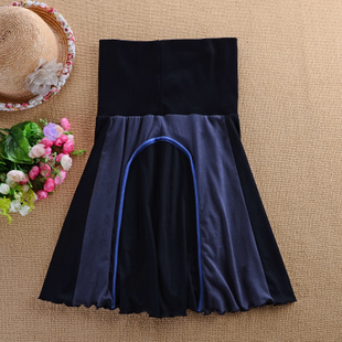 2015 European and American models Korean version of spring and summer high waist skirt skirts stitching Tee Dress fertilizer to increase size women