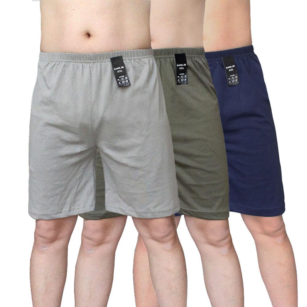 男士纯棉居家五分裤 夏季男士短裤 针织棉休闲居家五分睡裤