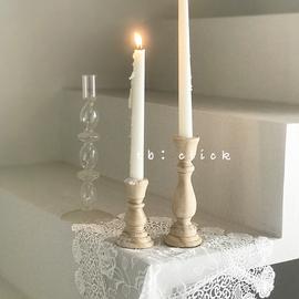 click杂货 原木木头烛台 复古欧式 装饰拍照道具服装店陈列