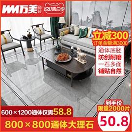 万美瓷砖灰色通体大理石地板砖新款 客厅背景墙防滑地砖800x800图片