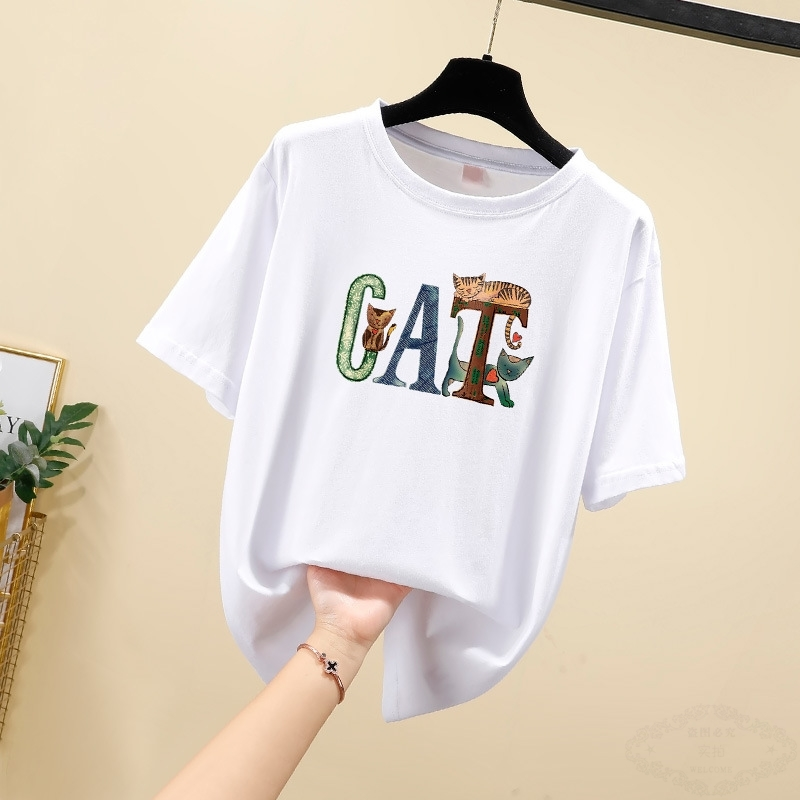 2020 summer Korean cotton womens short sleeve t-shirt female students casual fashion top bottoming
