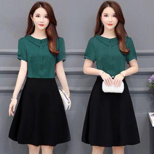 短袖大码2020新款韩版修身子连衣裙