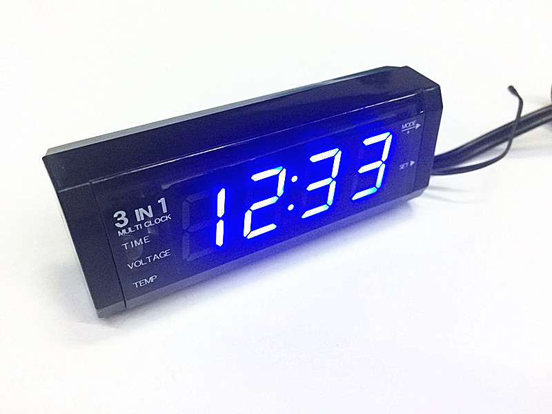 Бортовой электрический манометр термометр время колокол три в одном автомобиль часы автомобиль термометр напряжение считать