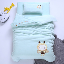 Childrens Kindergarten quilt three pieces set of pure cotton covers six pieces of nap Bedding baby Entrance Bed Kit