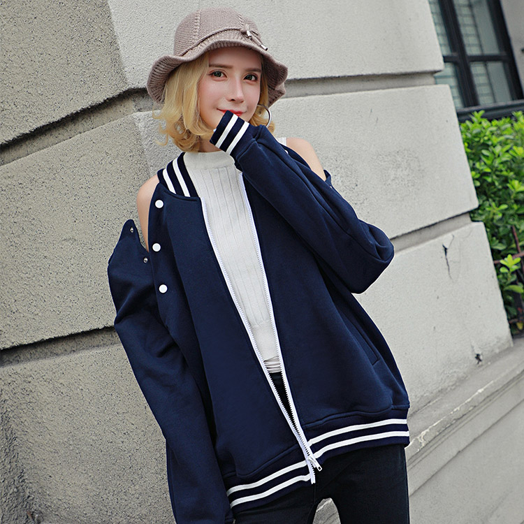 Baseball Jacket Womens autumn winter European and American splicing 2018 new jacket ins versatile chic casual loose jacket