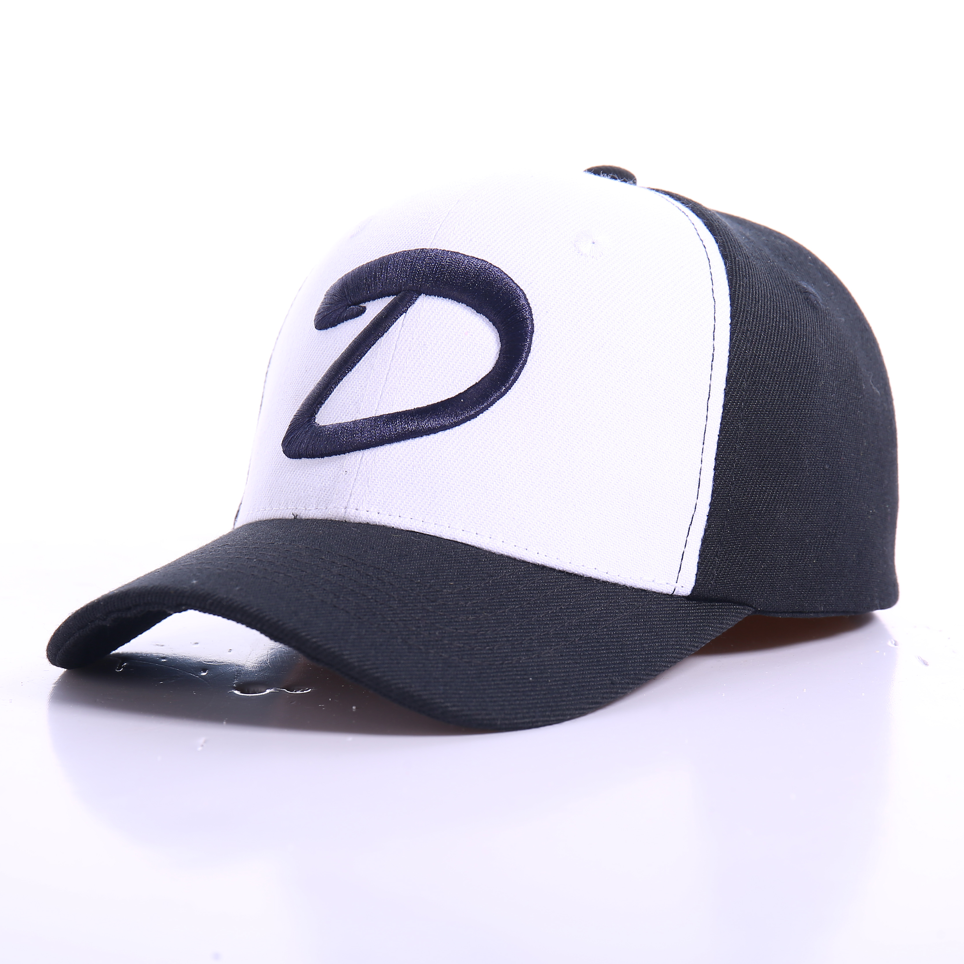 Clay baseball cap female trendy Man Street versatile trendy man hat chic spring and summer black letter sunshade cap