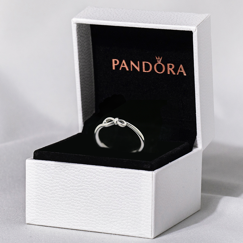 气质优雅198898C00银永恒符号花结戒指925潘多拉Pandora新品