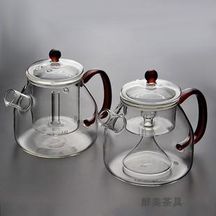 电陶炉耐热玻璃蒸茶壶煮茶器蒸汽煮茶壶黑茶普洱烧水壶泡茶壶家用图片