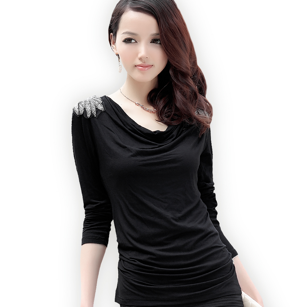 2015 new spring thin shirt female small shirt age thin for Thin long sleeve t shirts