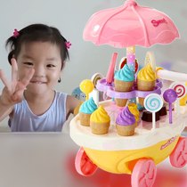 Ice cream candy car ice cream ice cream 3-5-6 years old 4 princess birthday gift childrens girl House toys