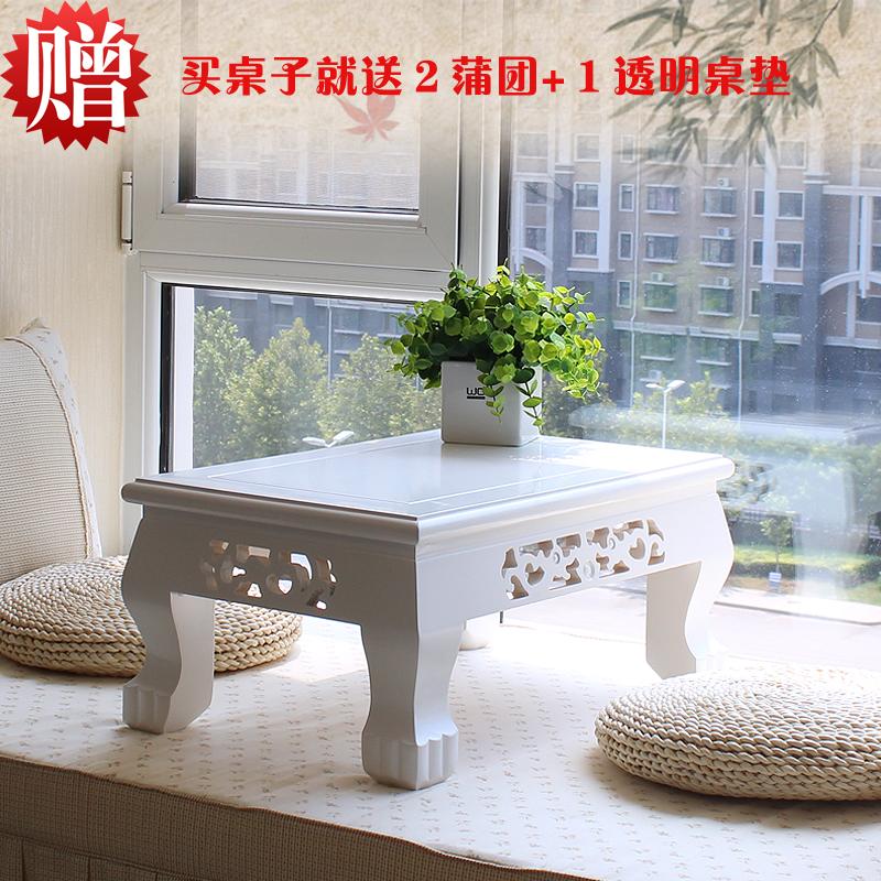 Бесплатная доставка простой континентальный татами кофейный столик эркер стол земля тайвань таблица короткая стол дерево спокойный комната несколько пот пар дом стол