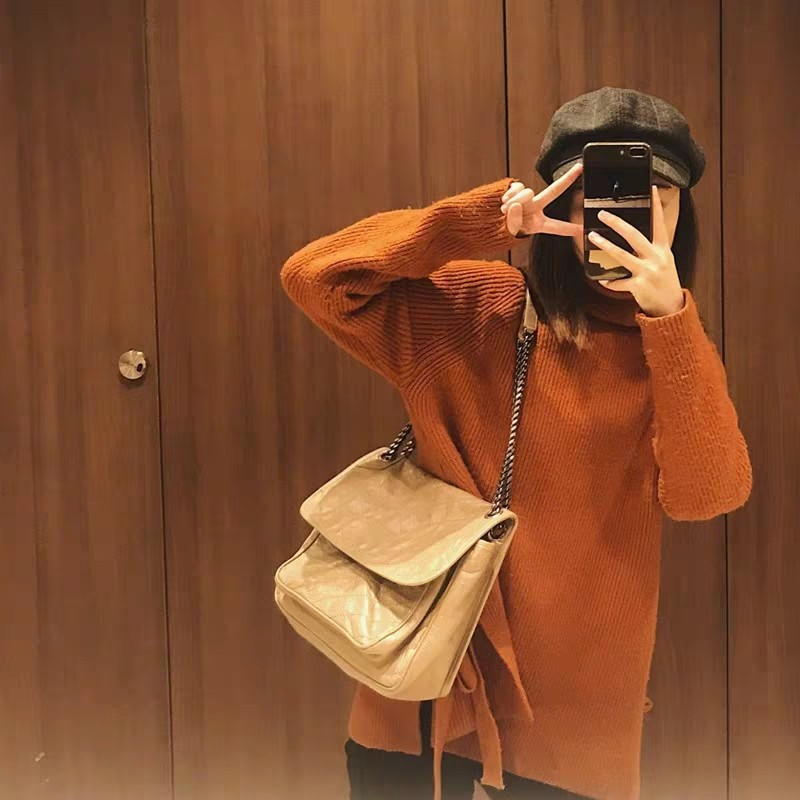 Hong Kong small CK chain bag 2020 new leather womens bag Yang Shulin Niki postman bag Single Shoulder Messenger Bag