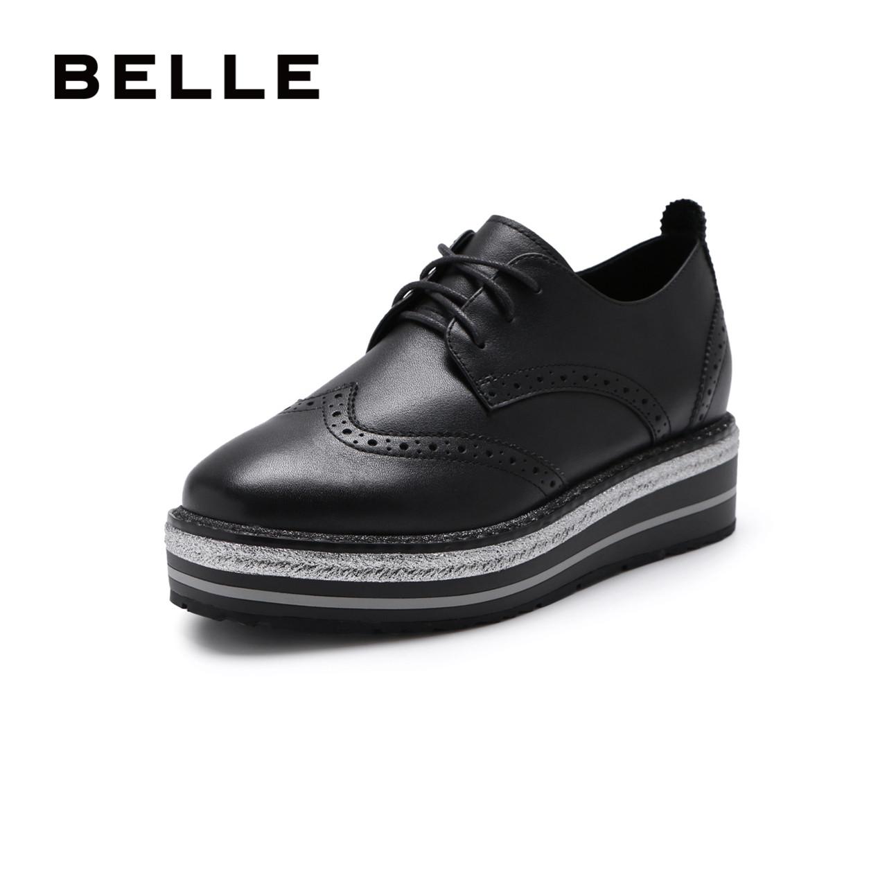 百丽商场新款厚底bazb单鞋