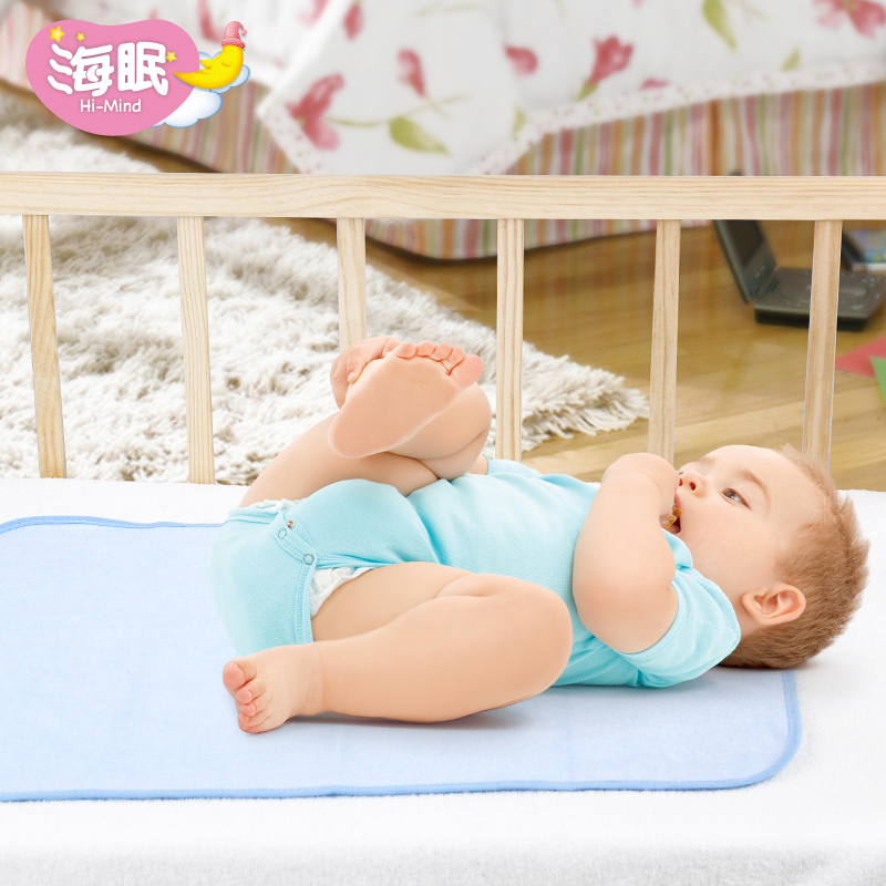 Mabao baby diaper waterproof pure cotton breathable childrens diaper washable leak proof pad small pure cotton
