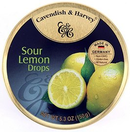 4 Pack Cavendish Harvey Sour Lemon Drops Hard Candy