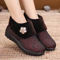 老北京布鞋冬天女棉鞋老年人防滑妈妈鞋软底老太太冬季奶奶保暖鞋