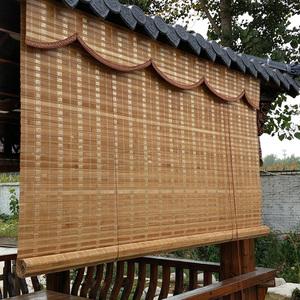 定做竹帘窗帘卷帘隔断帘家用 中式禅意餐厅茶楼阳台遮阳升降竹帘