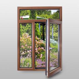 常州禾邦门窗 白橡木门窗 无锡铝木复合窗隔音窗 别墅木包铝门窗图片