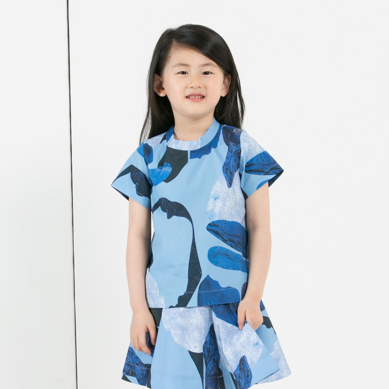 jnby by JNBY江南布衣 男女童府綢印花短袖棉T恤1F516200