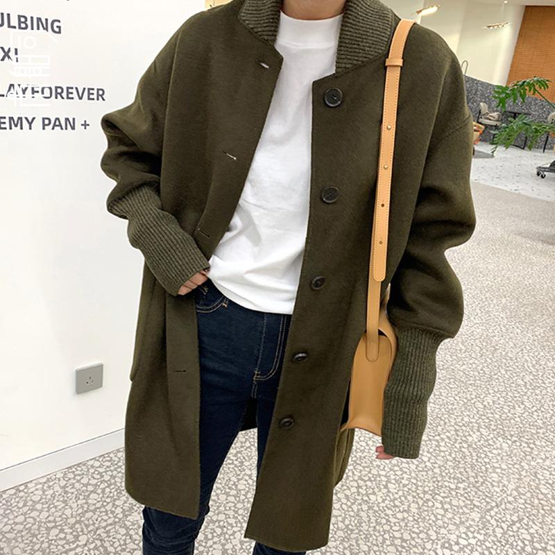 韩国长款呢大衣
