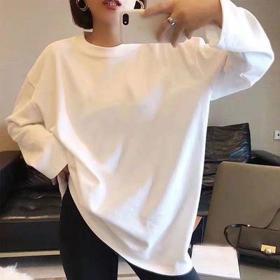 0026#官圖寬松顯瘦卡通印花米奇百搭打底衫T恤上衣女2020春新款