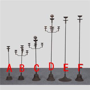仿古铁灯老油灯 铸铁油灯 影视道具特色装饰烛台民俗老铁灯煤油灯