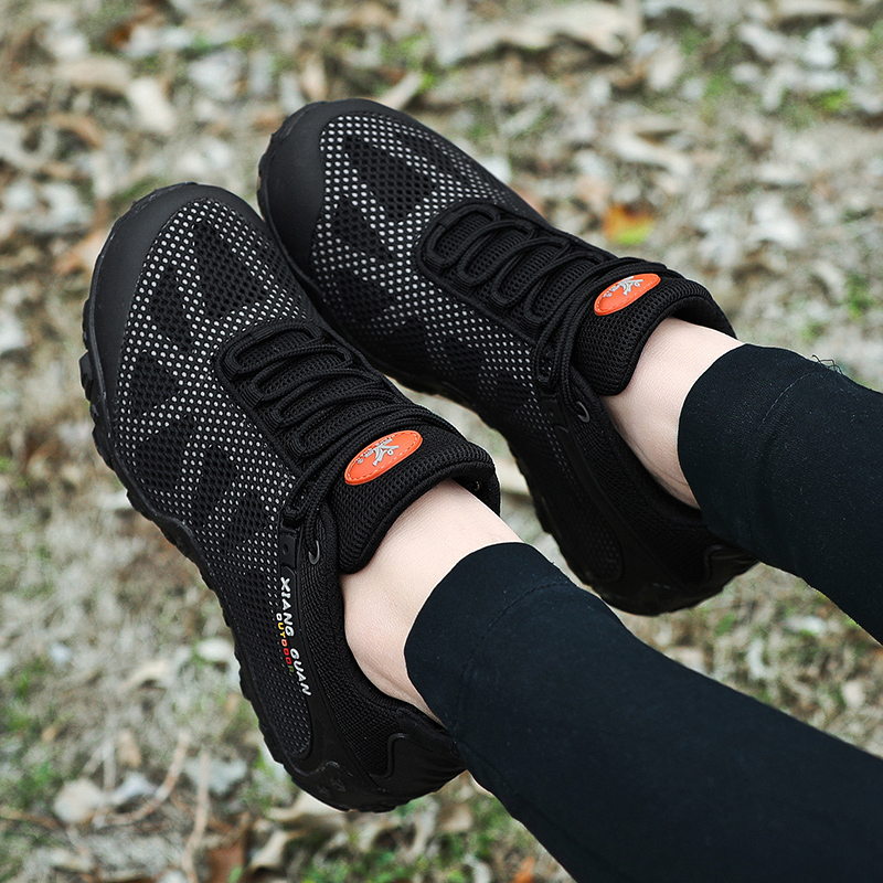 夏季登山鞋男士徒步鞋网面透气防水防滑轻便大码户外运动爬山鞋女