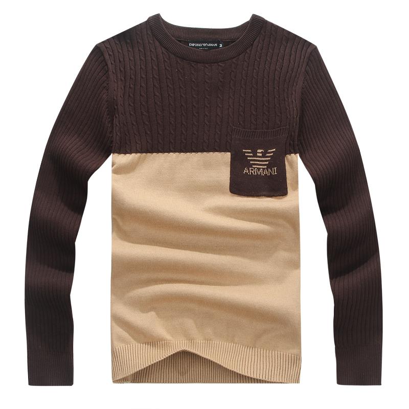 2013 осень одежда Ralph Lauren круглый шею свитер аутентичные молодости длинный рукав свитер, свитер мужская одежда