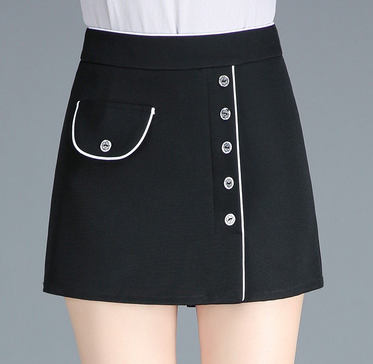 2019 new shorts womens spring and summer high waist large size wear Korean versatile casual pants skirt pants tide autumn vacation two pieces