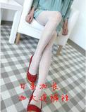 575b2bf7b6f USD $28.4; Japanese lengthened pure white dot bow love women with slim  increase cored wire pantyhose stockings