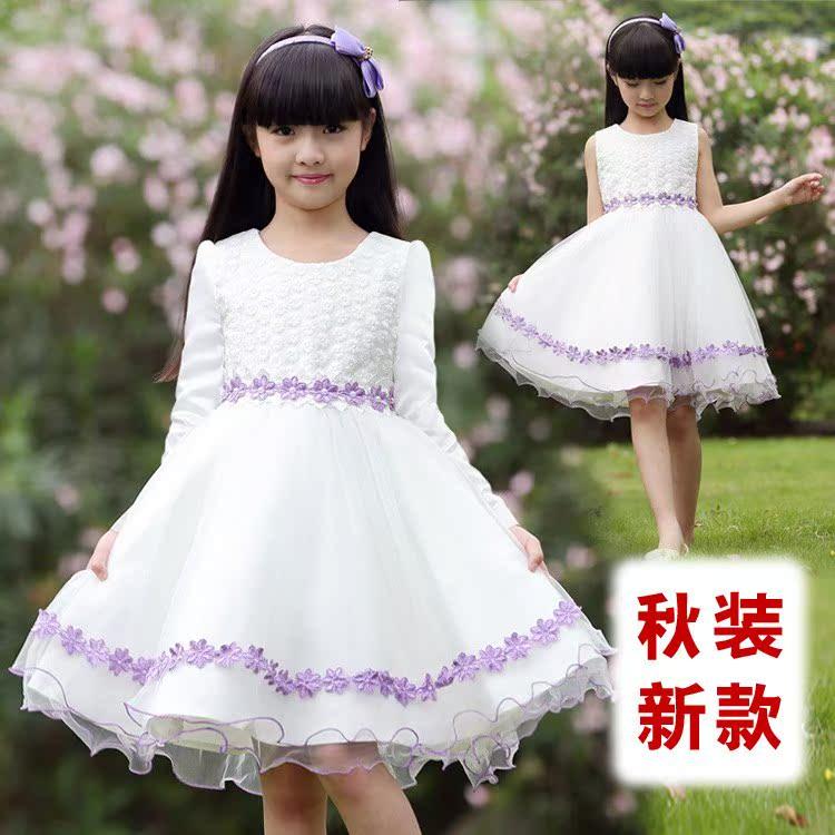 童装淘宝爆款秋装新款女童连衣裙儿童演出礼服公主裙时尚百搭裙