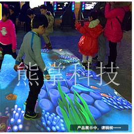 儿童游乐场设备AR地面互动投影多通道全息3D投影商场室内娱乐设施图片