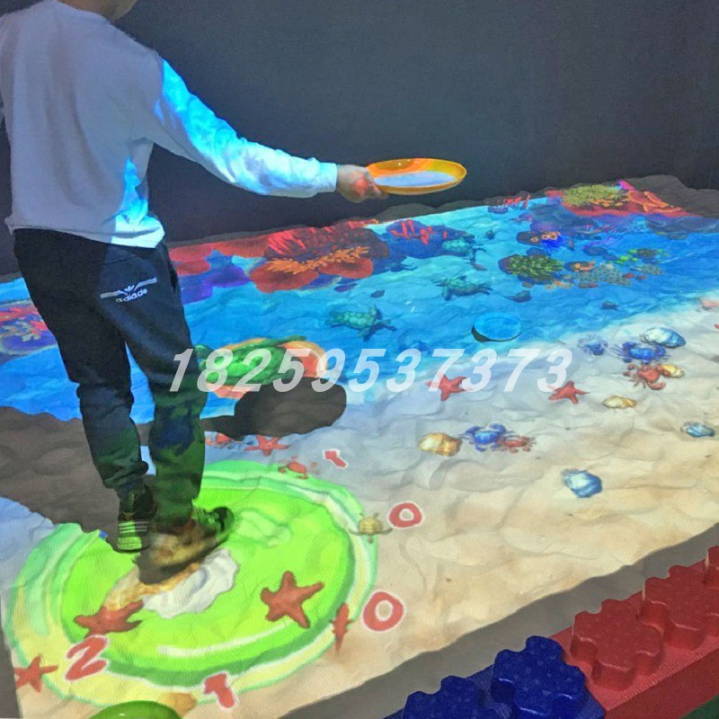 Ar projection interactive beach sand pool play intelligent toys fishing products childrens amusement park equipment direct sale