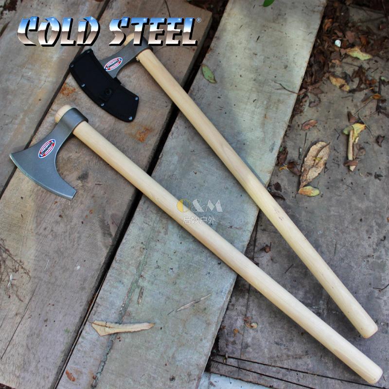 美国冷钢Cold Steel维京战斧野营户外斧手斧车载防身武器90WVBA