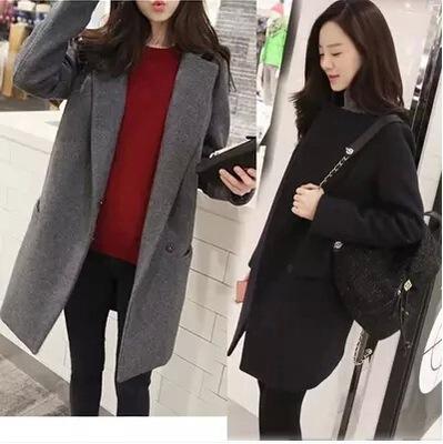 新款推荐秋冬季毛呢外套中长款呢大衣修身显瘦百搭学生款女