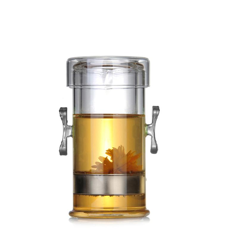 耐高溫泡茶器玻璃茶具紅茶泡雙耳杯普洱茶杯過濾功夫茶壺快客杯壺
