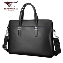 Seven Wolf Men's Bags, Genuine Leather Men's Bags, Handbags, Single Shoulder Bags, Men's Slant Bags, Men's Briefcase, Men's Business Bags