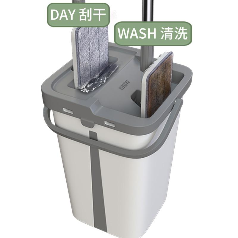 免手洗平板拖把家用一拖净干湿两用懒人吸水拖布墩布拖地神器瓷砖10-14新券