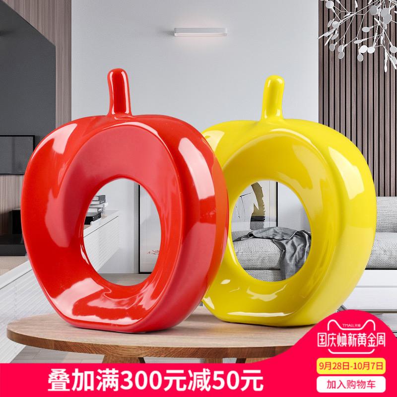 【平平安安】家居装饰品/陶瓷工艺品摆件/厂家直销 五色可选