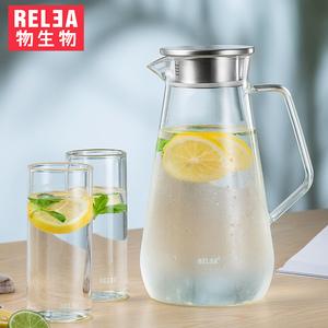玻璃冷水壶套装家用果汁凉白开大容量耐高温杯扎壶过滤茶壶凉水壶