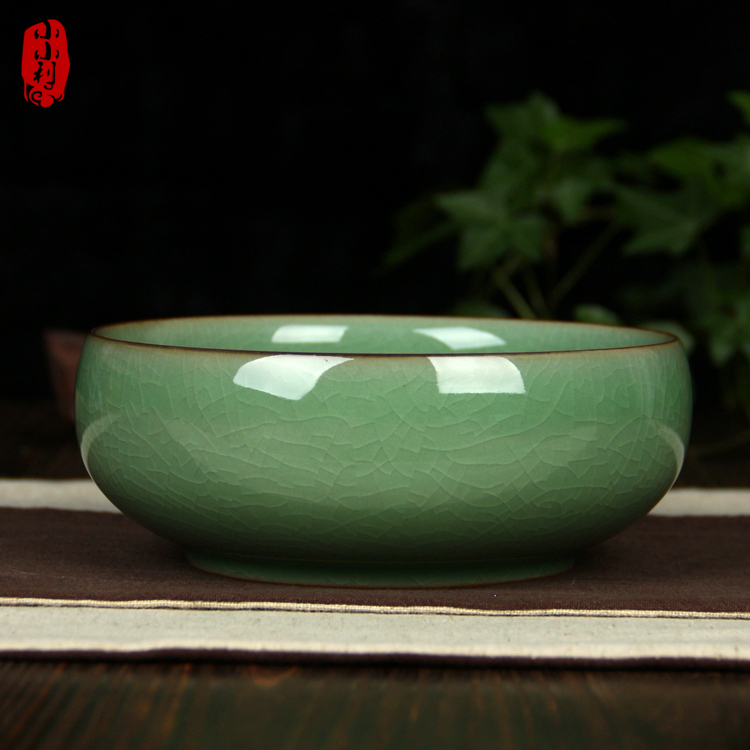 包邮龙泉青瓷陶瓷创意烟灰缸欧式 多功能复古中冼 家居办公室摆件